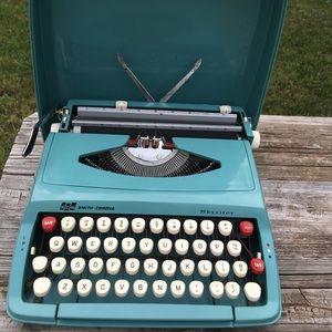 Other - Vintage Turquoise Typewriter Smith Corona